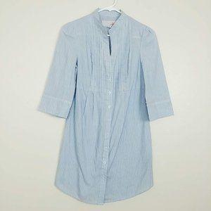 BB Dakota Jack Pleated Striped Shirt Dress S #3678